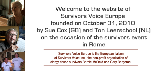 Survivors Voice Europe Welcome Header